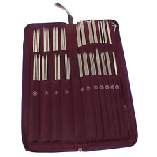 104pcs Stainless Steel Straight Knitting Needles Crochet Hook Weave Set Tool Kit