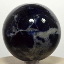 "2.3"" Rich Blue Sodalite Crystal Sphere Natural Quartz Mineral Stone Ball Africa"
