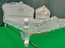 UK STOCK King Size 5' Cream French style designer Rococo Bed ....... Top Quality