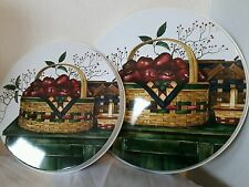 Basket collection w apples 4pc stove Burner Covers set