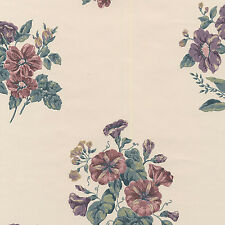 Floral Blooming Rose Bouquets Vibrant Painted Flower Decor Double Roll Wallpaper