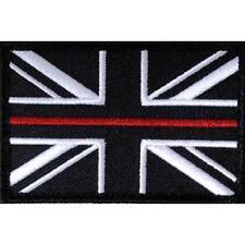 FIRE SERVICE THIN RED LINE UNION JACK PATCH / BADGE SEW ON
