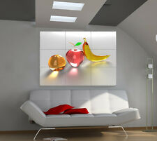 Glass Fruits large giant 3d poster print photo mural wall art ia066