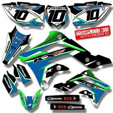 2009 2010 2011 2012 KXF 250 GRAPHICS KIT KAWASAKI KX250F MOTOCROSS DIRT DECALS