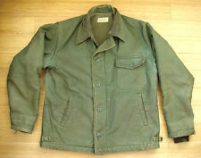Vtg 40s WW2 USN US Navy A-2 DECK JACKET Cold Weather Field Coat Sz 42 44 L Rare