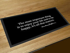 Audrey Hepburn Happy Inspirational quote black bar runner Pubs & Cocktail Bars