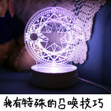 New Anime CARDCAPTOR SAKURA Sakura / Clow Card Magic Matrix Cosplay 3D LED Lamp