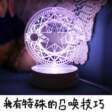 New Anime CARDCAPTOR SAKURA Sakura / Clow Card Magic Matrix Cosplay 3D LED Lamp