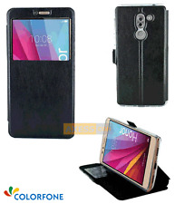 Etui Folio Rabattable BOOK CASE S-View Stand Noir pour HUAWEI Honor 6X