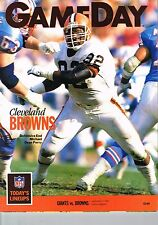 1990 New York Giants Home vs Cleveland Browns NFL Football Program