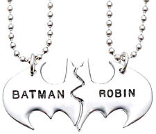Personalized Friendship Batman Robin Twin Pendant Best Friend Necklace Mother