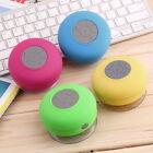 Mini Waterproof Wireless Bluetooth Handsfree Suction Speaker Shower Car Mic SL