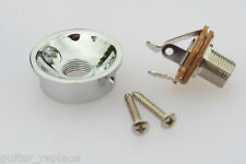 Jack Plate Socket Chrome Cromado Telecaster Cazoleta Guitarra Eléctrica