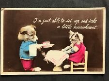 Vintage Postcard: Animals Cats: #A21 - Sit Up And Take A Little Nourishment 1938