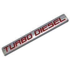 CHROME/RED METAL TURBO DIESEL ENGINE RACE MOTOR SWAP BADGE FOR TRUNK HOOD DOOR