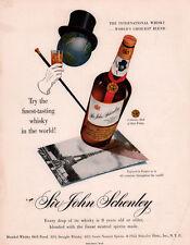 AD LOT OF 3  1940'S -50 'S ADS SCHENLEY WHISKEY WAR BONDS STATES TOP HAT CANE