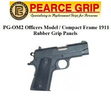Pearce Grip PGOM2 PG-OM2 for 1911 Officers Compact Frame Rubber Grips Panels