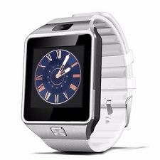 WHITE W-09 1.54'Touch Screen Watch Phone Unlock Quad band Bluetooth cell Phone