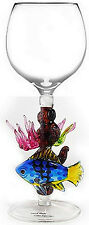 EXQUISITE HAND-BLOWN GLASS BY YURANA ~ FISH ON CORAL REEF W184