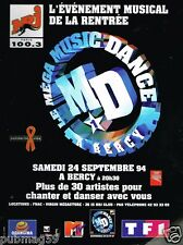 Publicité advertising 1994 Concert Music dance sur Radio NRJ