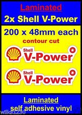Laminated C 2x Shell V-Power Racing Motorcycle car decals van truck slot sticker