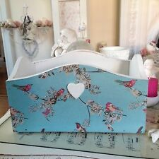 Shabby Chic Wooden Trug Hand Made/ Decorated Both Sides
