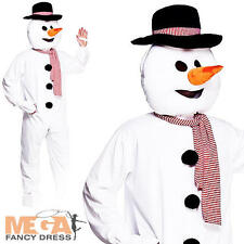 Deluxe Snowman Mini Mascot Ladies Mens Christmas Fancy Dress Adult Costume