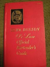 Vintage Original 1965 OLD MR BOSTON Deluxe Official Bartenders Guide Hard Cover