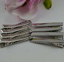 ^46mm Silver Prong Metal Hair Alligator Clip 20PC H13
