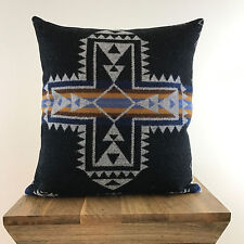 Boho Chic Pendleton® Wool Pillow Cover- Crossroads in Graphite