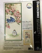 Dimensions Counted Cross Stitch Kit Baby Blue Jays 11 by 20 Inches Lena Liu