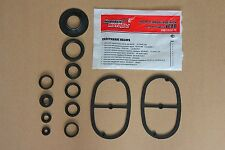 Set (12 pc.) of rubber repair gaskets for motorcycle URAL 650cc .