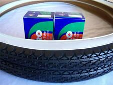 Two (2) White Wall 26x2.125 Bicycle Tires & (2) Duro inner tubes/Beach Cruiser