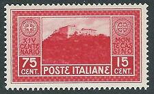 1929 REGNO MONTECASSINO 75 CENT MH * - CZ27-3