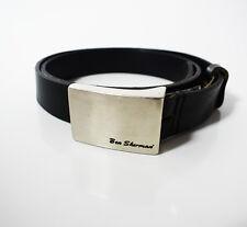 Ben Sherman Original Mens Leather Belt Black