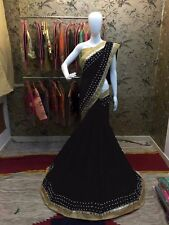 Real Mirror Designer Bollywood Saree Fabric Georgette Party wear Saree Blouse
