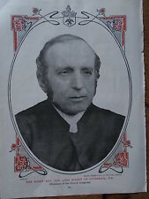 Original 1904 Print LORD BISHOP of LIVERPOOL Photograph B/W Book Illustration