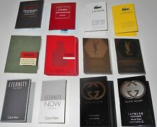 Lot of 12 Mens Cologne Sample Vials Gucci Calvin Klein Hugo Lacoste YSL Cartier
