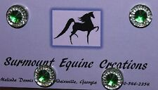 Horse Show Number Magnets - Green Rhinestone - Saddleseat, Hunt Seat, Western