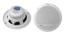 "2) LANZAR AQ6DCW 6.5"" 360W Dual Cone Marine Boat Speakers Water Resistant White"