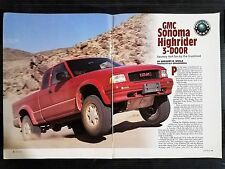 1996 GMC Sonoma Club Coupe SLS   - 7 Page Original Article - Free Shipping