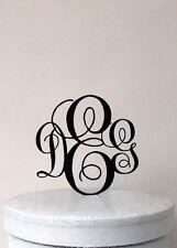 Custom Monogram Wedding Cake Topper - Vine Monogram wedding cake topper