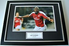 Sol Campbell SIGNED FRAMED Photo Autograph 16x12 display Arsenal Football & COA