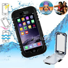 """4.7""""Waterproof Shockproof Dirt Diving Protective Black Case Cover For iPhone6 6S"""