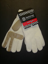 NEW $38 ISOTONER WOMEN'S SMARTOUCH CHENILLE KNIT GLOVES WITH PALMS IVORY OS