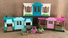 Li'l Woodzeez Play Sets Lot Bakery General Store clinic Fit Calico Critters bear