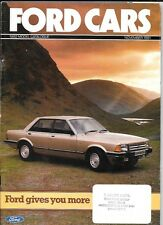FORD FIESTA,ESCORT, CORTINA, CAPRI,GRANADA NOVEMBER 1981 ALL MODEL SALE BROCHURE
