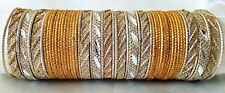Indian Bollywood 52pcs Golden Colored Stunning Bridal Bangles Set Jewelry 2.8.