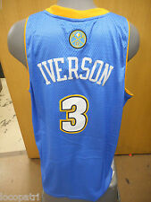 Adidas NBA Denver Nuggets Allen Iverson Swingman Jersey Mens NWT 2XL