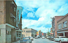 Coaticook Quebec Canada Store Fronts Old Cars Postcard